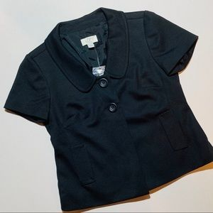 2 for $30: LOFT short sleeve black blazer size 0P